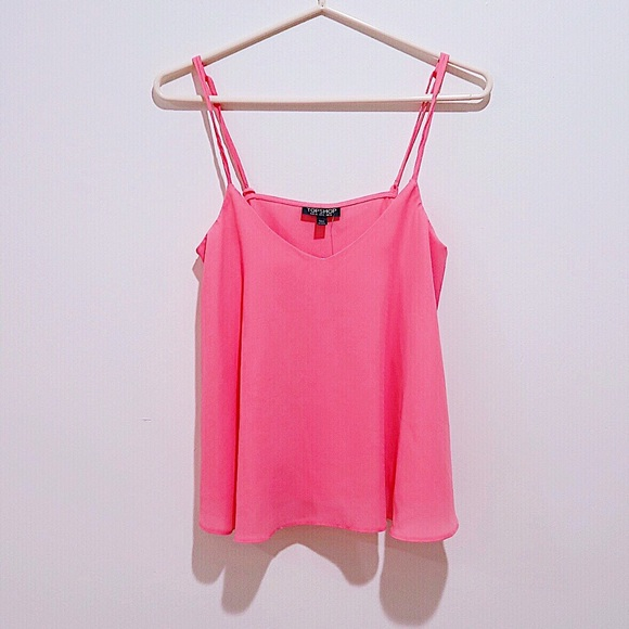 sells lace up in 100% high quality Topshop Tops | Basic Cami Top In Neon Pink | Poshmark